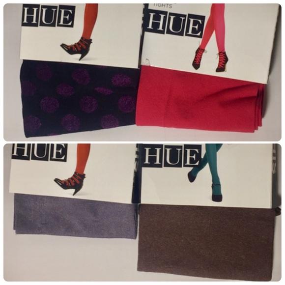 b8ac80ccf2c 4 pairs HUE variety tights bundle